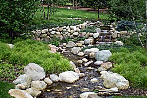landscape stream water feature