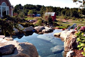 landscaping custom rock pool