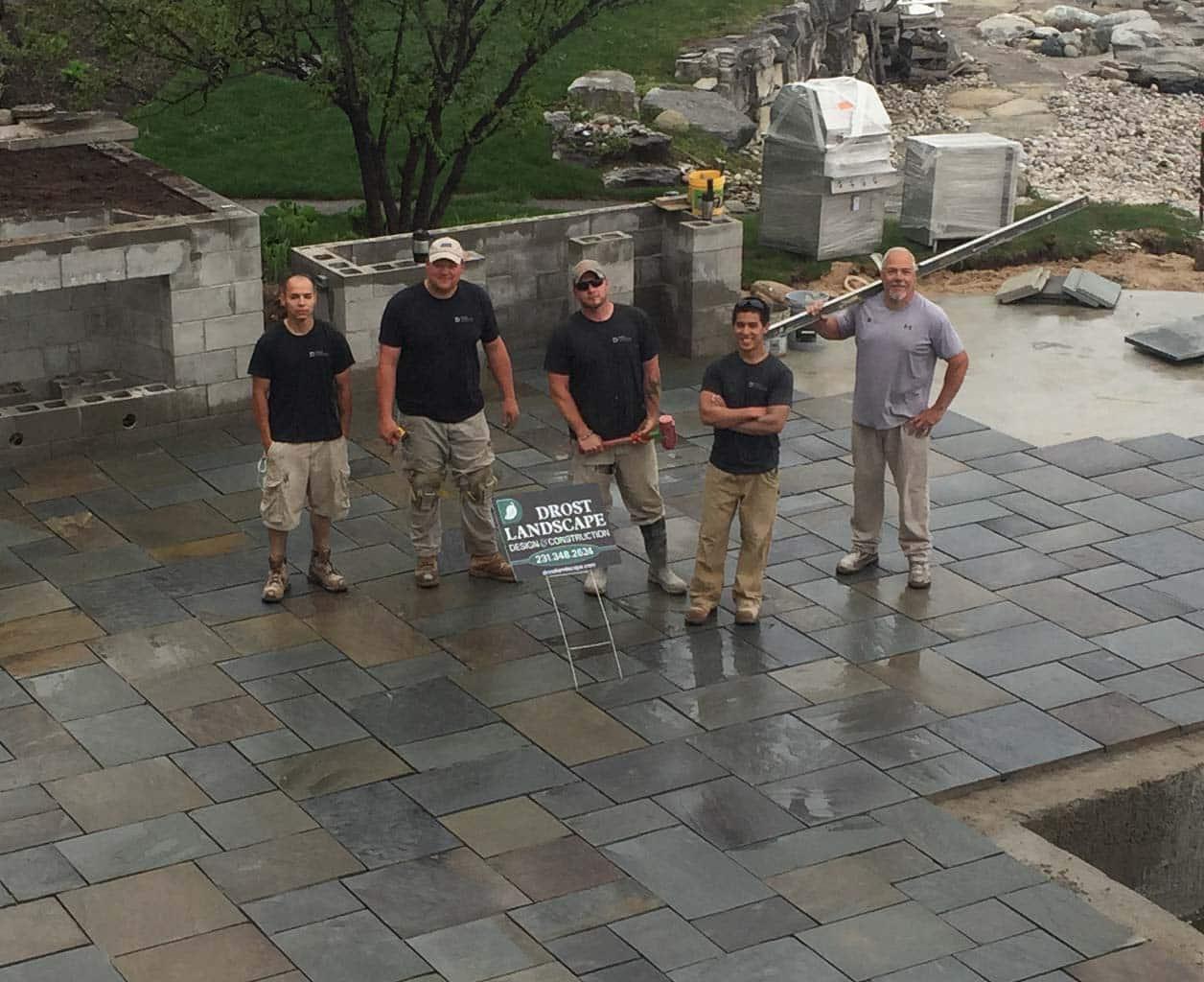Drost Landscape crew on site