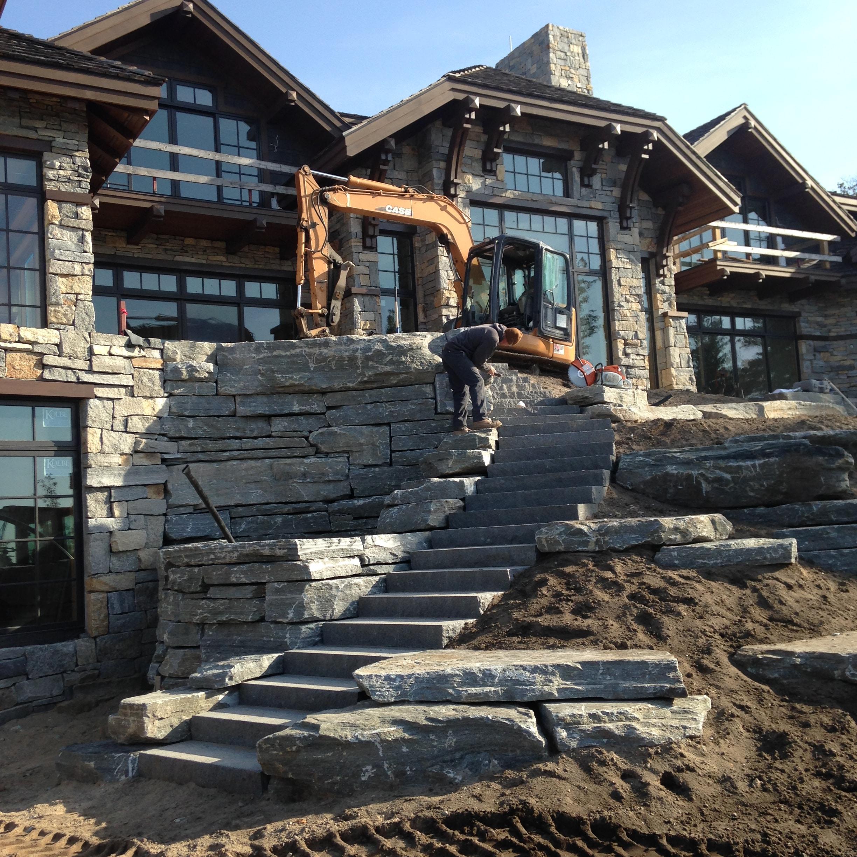 construction landscape installation