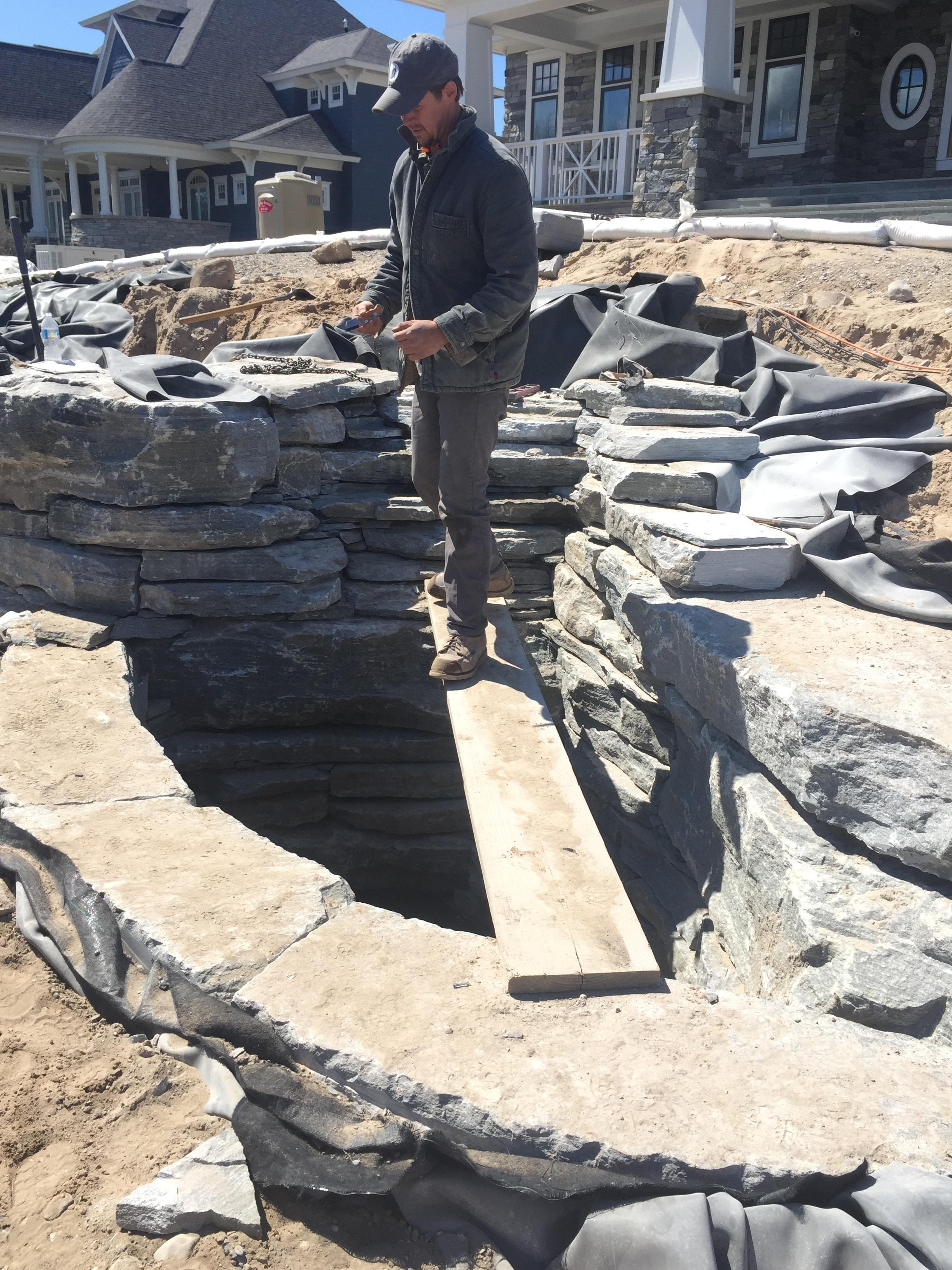 inspecting landscape installation