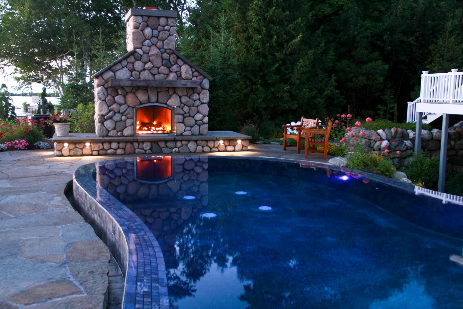Landscaped Outdoor Living Fire Pit Ideas Simplified Drost Landscape