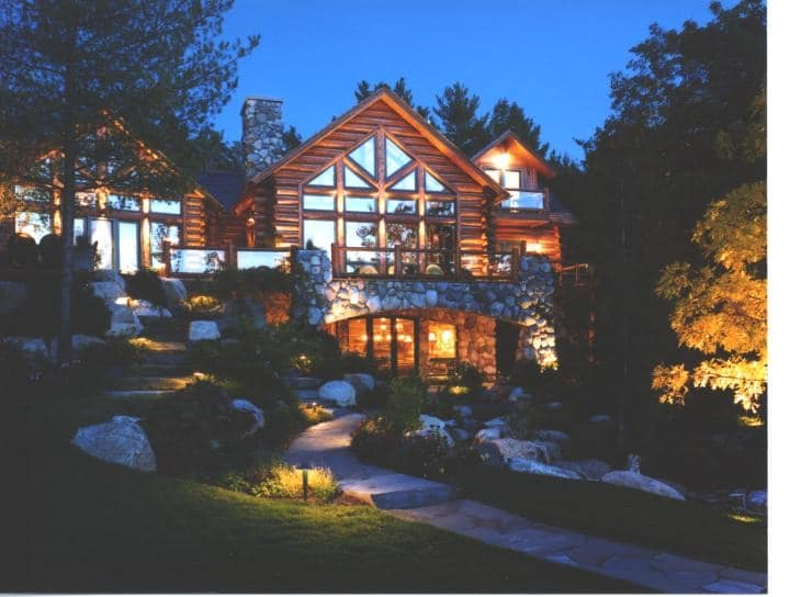 landscape lighting turns your home into a magazine show piece