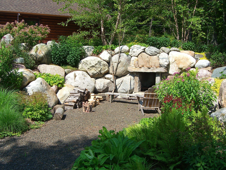 custom outdoor fireplace