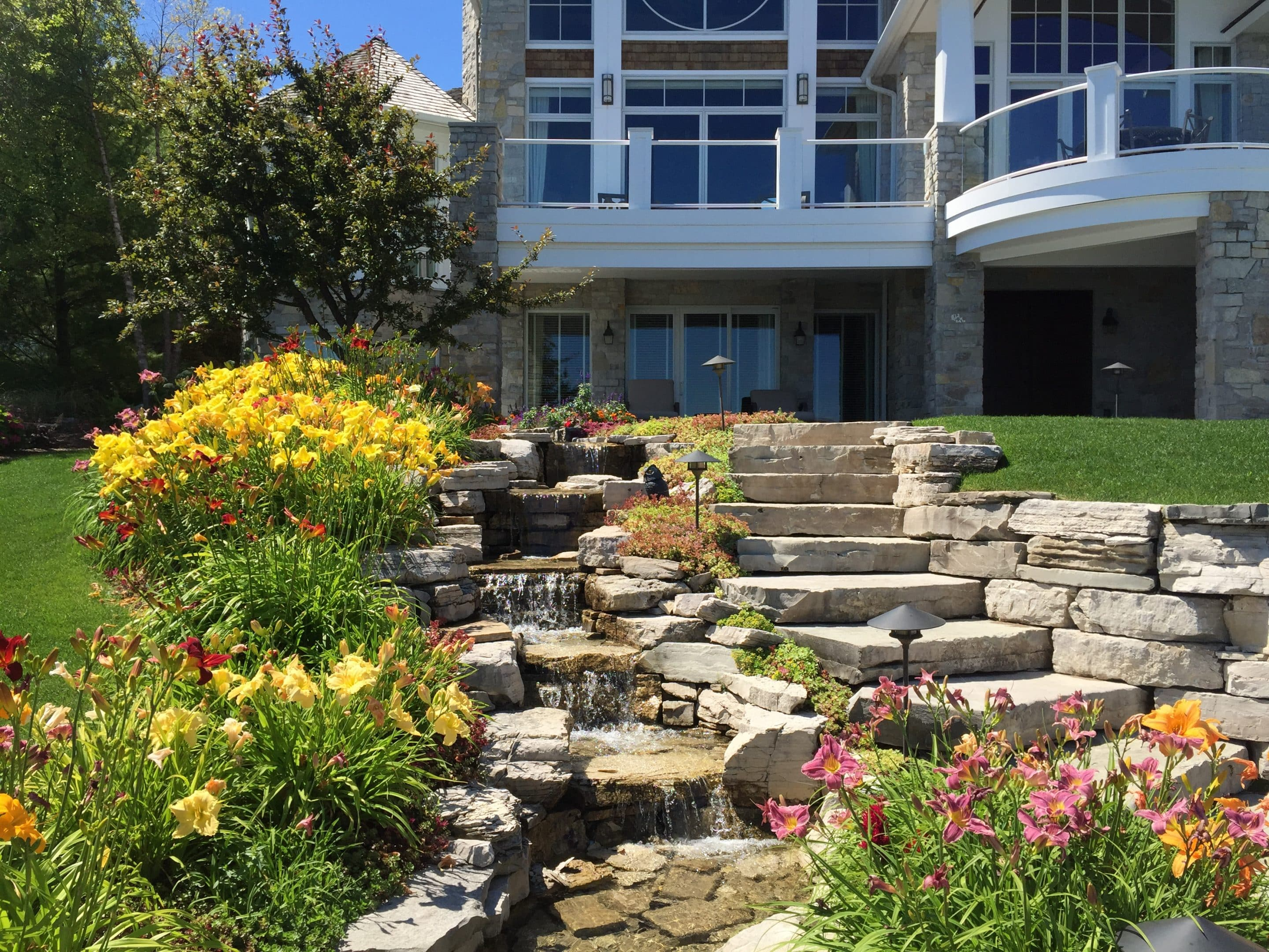 hardscape and water feature