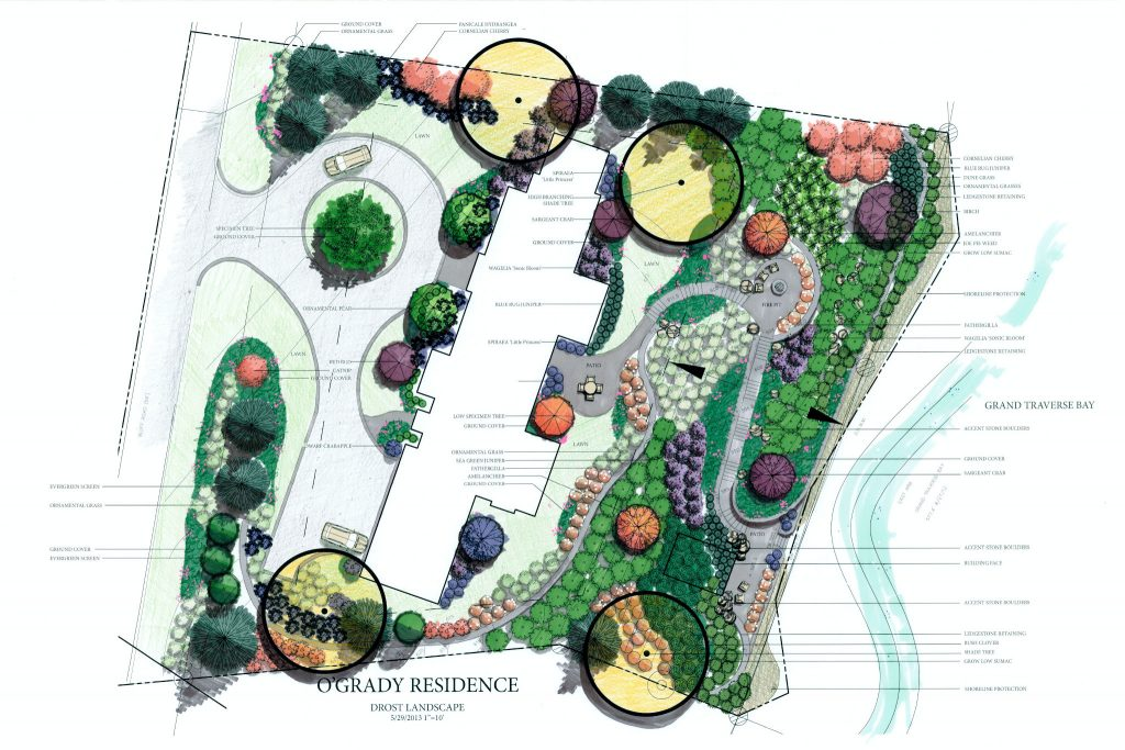 landscape design for bay front property