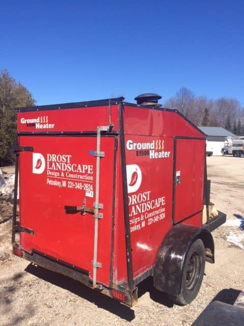 Drost Landscape ground heater extends installation season