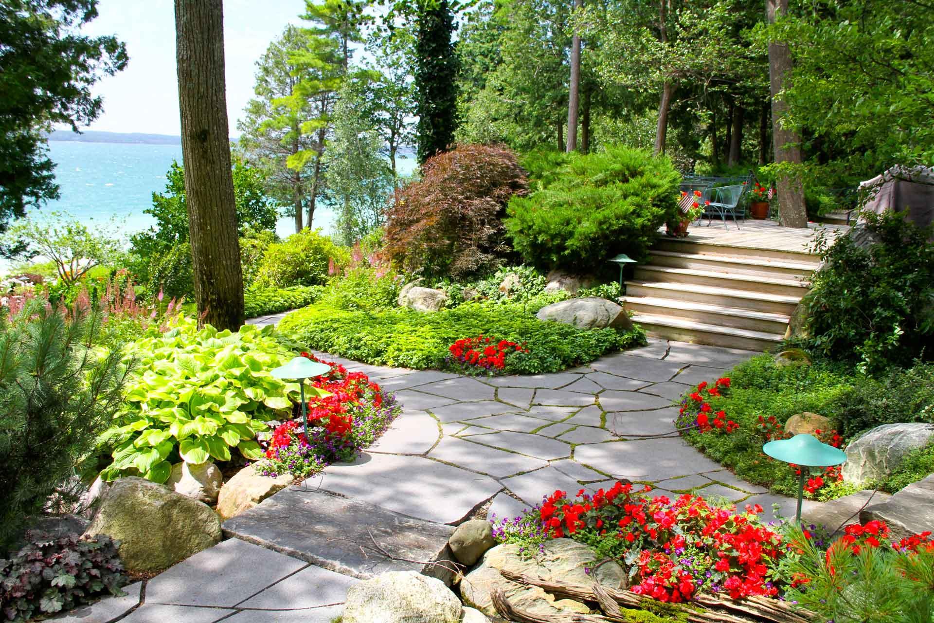 landscape stone walkway