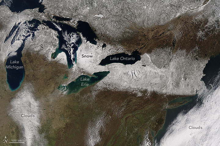 United States partial satellite image
