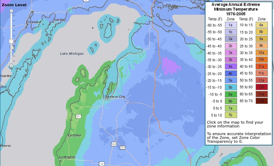 USDA Map - Northern Lower Michigan